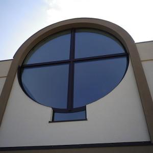 Okno aluminiowe Kościół