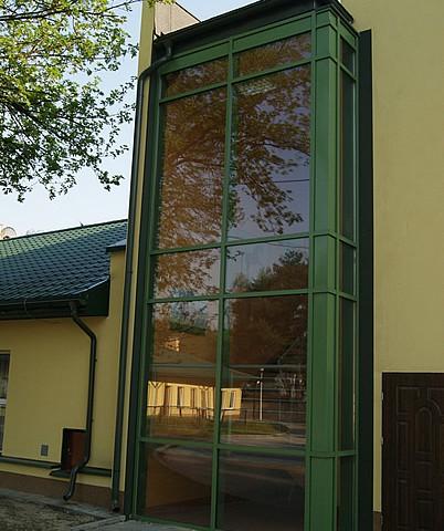 Fasada aluminiowa DPS w Wiśniowej Górze