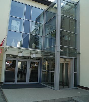Fasada aluminiowa w Miejskim Centrum Kultury w Bełchatowie